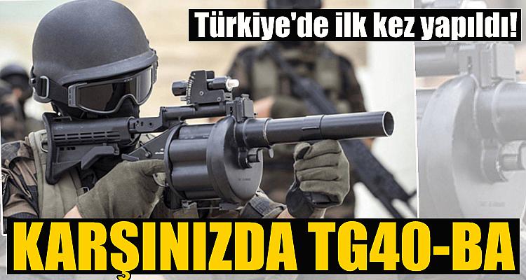 Türkiye'nin ilk çoklu bombaatarı: TG40-BA