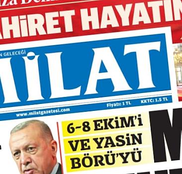 8 Ekim 2021 Milat Gazetesi
