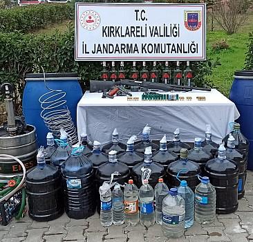 Kırklareli'nde bir ton sahte içki ele geçirildi