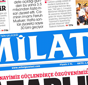3 Ekim 2021 tarihli Milat Gazetesi