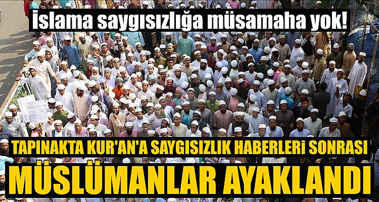 Müslümanlar harekete geçti! Kur'an'a saygısızlık haberi ülkeyi karıştırdı