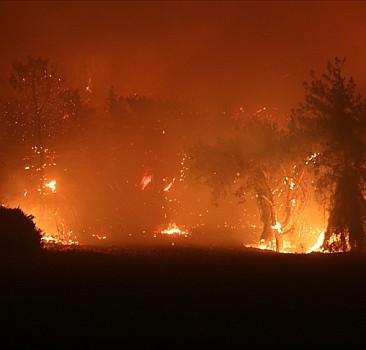 Manavgat'ta yangında kalan 10 kişi kurtarıldı