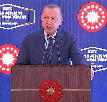 Erdoğan: Kuzey Kıbrıs artık ayağa kalkıyor
