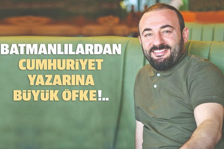 Batmanlılardan Cumhuriyet gazetesi ve Işıl Özgentürk'e büyük öfke