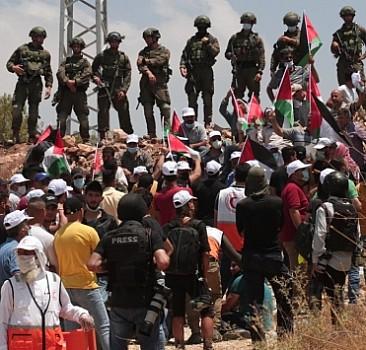 İşgal güçlerinden gösteriye müdahale