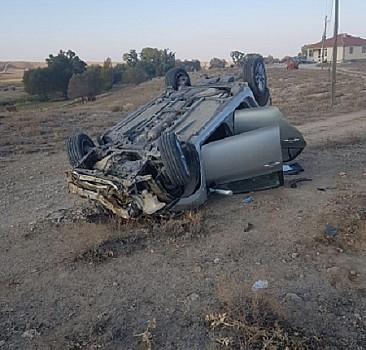 Yozgat'ta otomobilin devrilmesi sonucu iki polis hayatını kaybetti