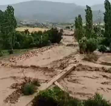 Yozgat'ta selin geliş anı ortaya çıktı