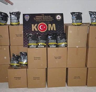 Kırıkkale'de 1,1 ton kaçak tütün ele geçirildi