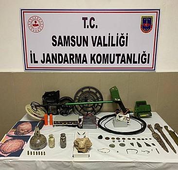 Samsun'da tarihi eser operasyonlarında 4 şüpheli yakalandı