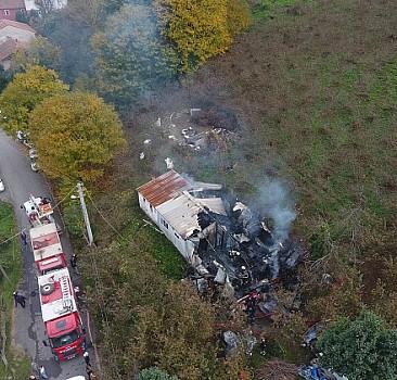 Düzce'de evde çıkan yangında bir kişi öldü