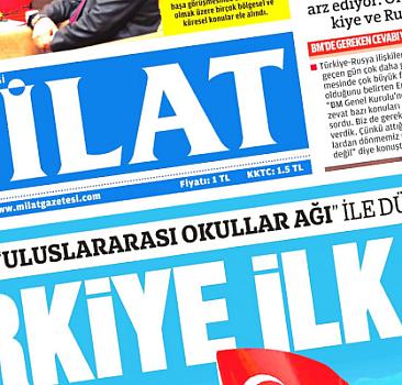 30 Eylül 2021 Milat Gazetesi