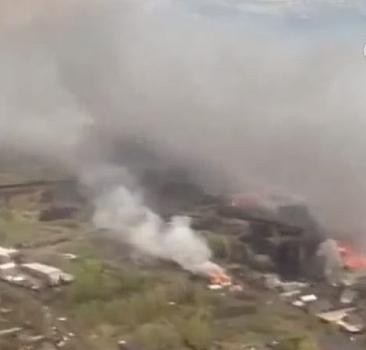 Kazakistan'da yangın felaketi