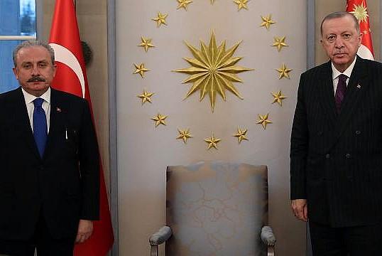 Başkan Erdoğan, TBMM Başkanı kabul etti