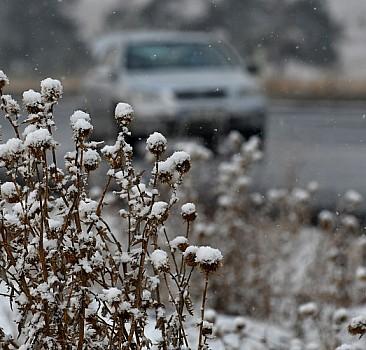 Sarıkamış'ta kar etkili oldu