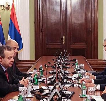 Çavuşoğlu, Sırbistan Ulusal Meclis Başkanı ile görüştü