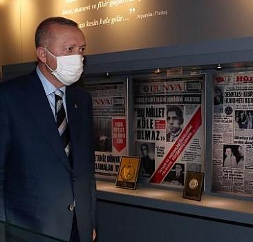 Erdoğan'dan Türkeş'in doğduğu eve ziyaret