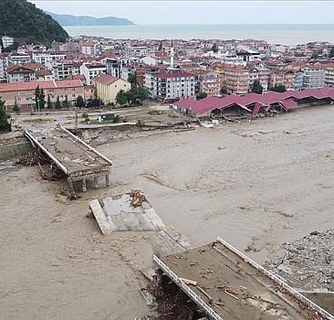 Ayancık'ta selin tahribatı havadan görüntülendi
