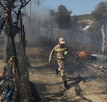 Midilli'deki kampta tekrar yangın çıktı