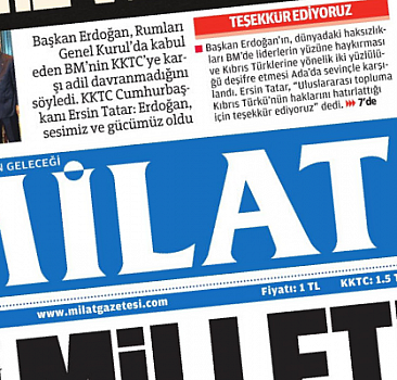 23 Eylül 2021 tarihli Milat Gazetesi