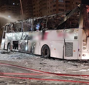 Ankara'da yolcu otobüsü yandı: 1 ölü, 20 yaralı