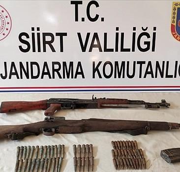 PKK'ya ait silahlar ele geçirildi