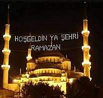 Ramazan geldi hoş geldi