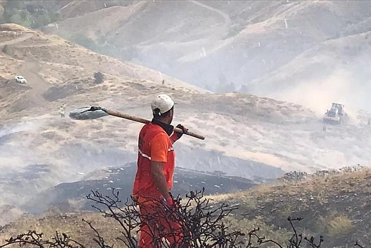 Bingöl'deki yangın söndürüldü