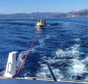 Denizde sürüklenen 4 kişi kurtarıldı