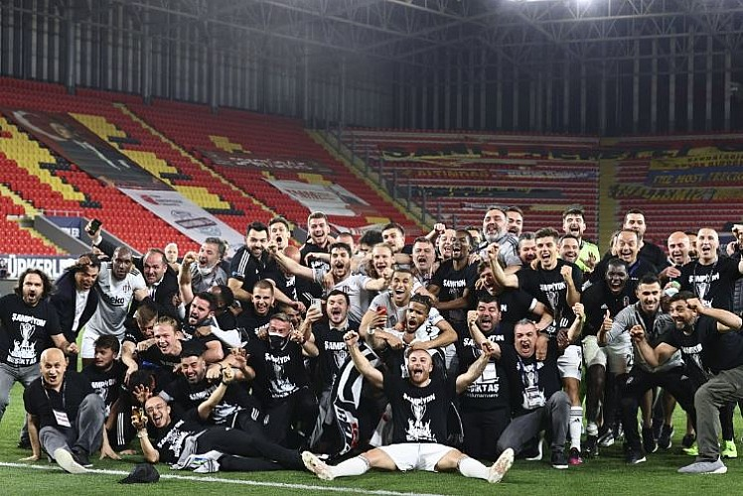 Süper Lig'de şampiyon Beşiktaş oldu