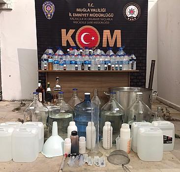 Muğla'da sahte içki ve kaçakçılık operasyonunda 6 zanlı tutuklandı