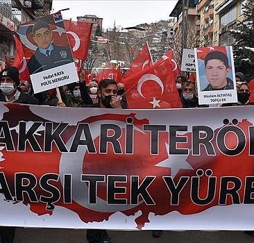Hakkari'de PKK'ya halk öfkesi