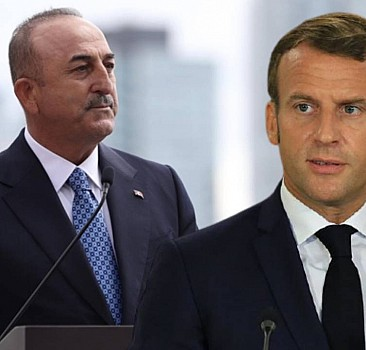 Çavuşoğlu'ndan Macron'a sert tepki