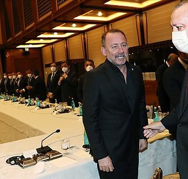 Başkan Erdoğan şampiyonu ağırladı