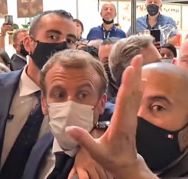 Macron'a tokattan sonra şimdi de yumurtalı saldırı!