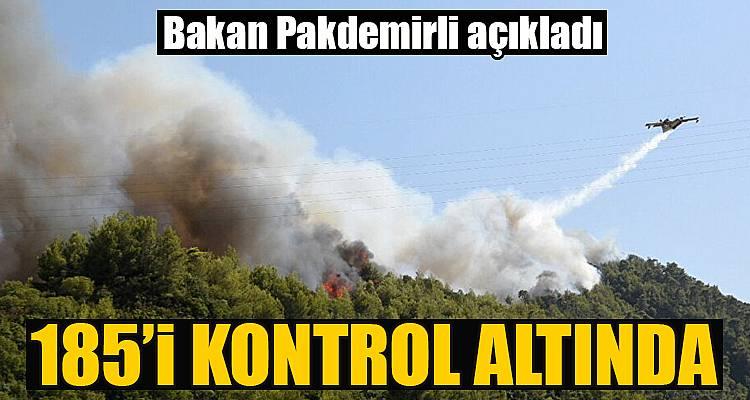 Bakan Pakdemirli kontrol altına alınan yangınları açıkladı