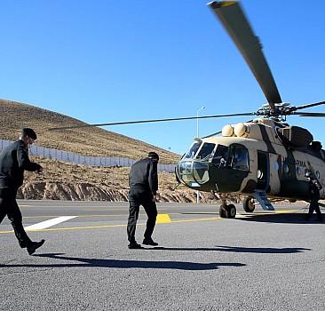 Kayseri'de helikopterle trafik denetimi