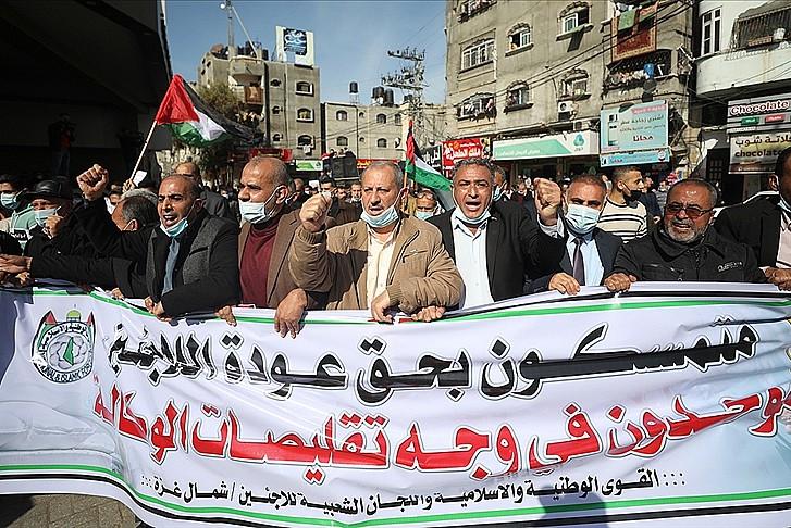 BM'nin işlevsizliği Gazze'de protesto edildi