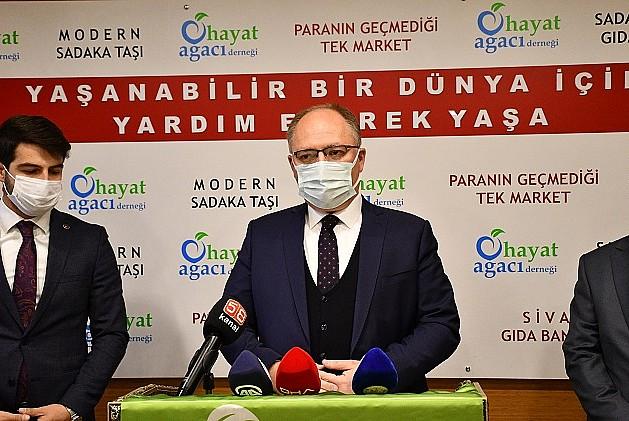 Sivas Belediyesinden dar gelirli ailelere nakit yakacak yardımı