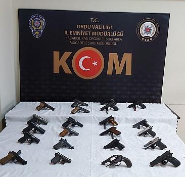 Ordu merkezli 6 ilde silah kaçakçılarına yönelik operasyon
