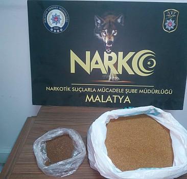 Malatya merkezli uyuşturucu operasyonunda 2 şüpheli yakalandı