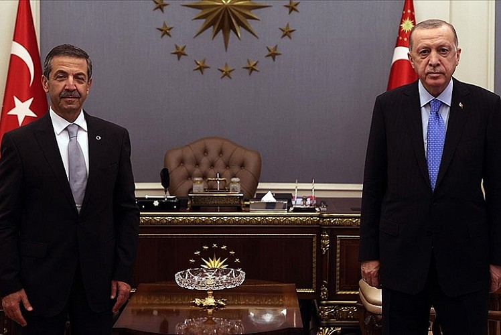 KKTC Dışişleri Bakanını kabul etti