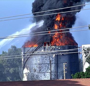 Zahrani petrol tesislerinde yangın