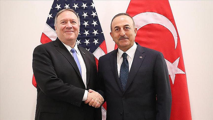 Çavuşoğlu ve Pompeo Doğu Akdeniz'i görüştü