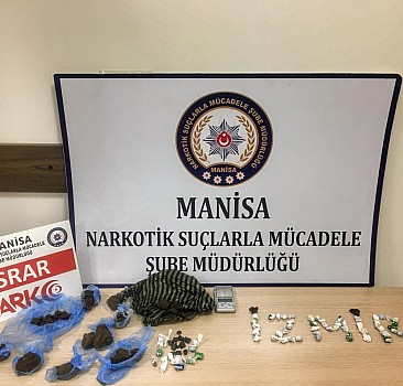 Manisa'da uyuşturucu operasyonu 4 tutuklama