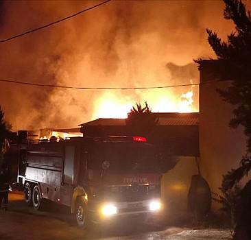 Gebze'de kereste fabrikasında yangın