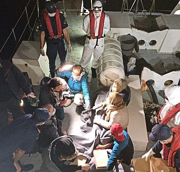 Muğla'da Türk kara sularına itilen 18 sığınmacı kurtarıldı