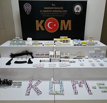 Samsun'da kaçakçılık operasyonu 2 gözlatı