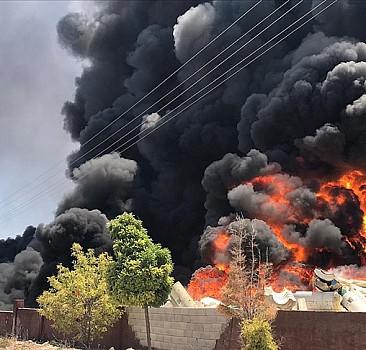Gaziantep'te depoda yangın çıktı