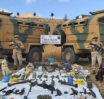 Bitlis'te PKK'ya ait sığınaklara operasyon