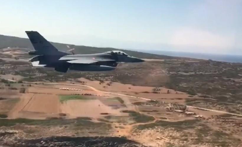 Akdeniz'de sıcak anlar! F-16'lar havalandı